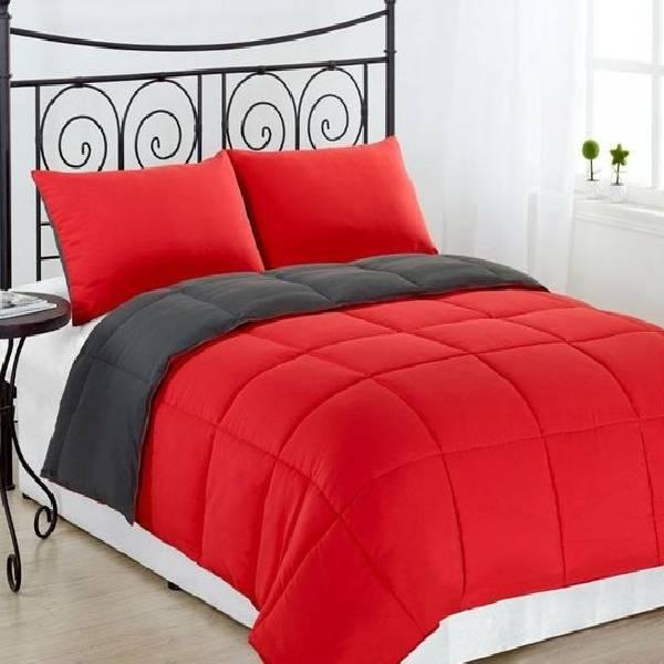 Couette-Uni-2-places-220x240-rouge-noir
