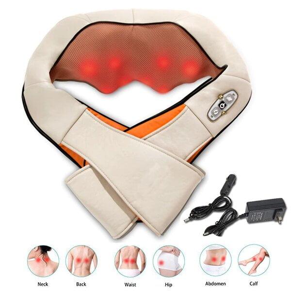 Promotion-Tunisie-Electrical-Shiatsu-Massager-Back-Cervical-Neck-Shoulder-Massager-Body-Infrared-3D-Kneading-Massage-Manual-Heat-Roller