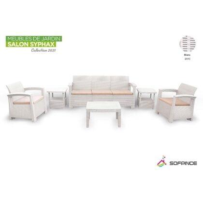 promotion-salon-de-jardin-5 places Syphax blanc-min